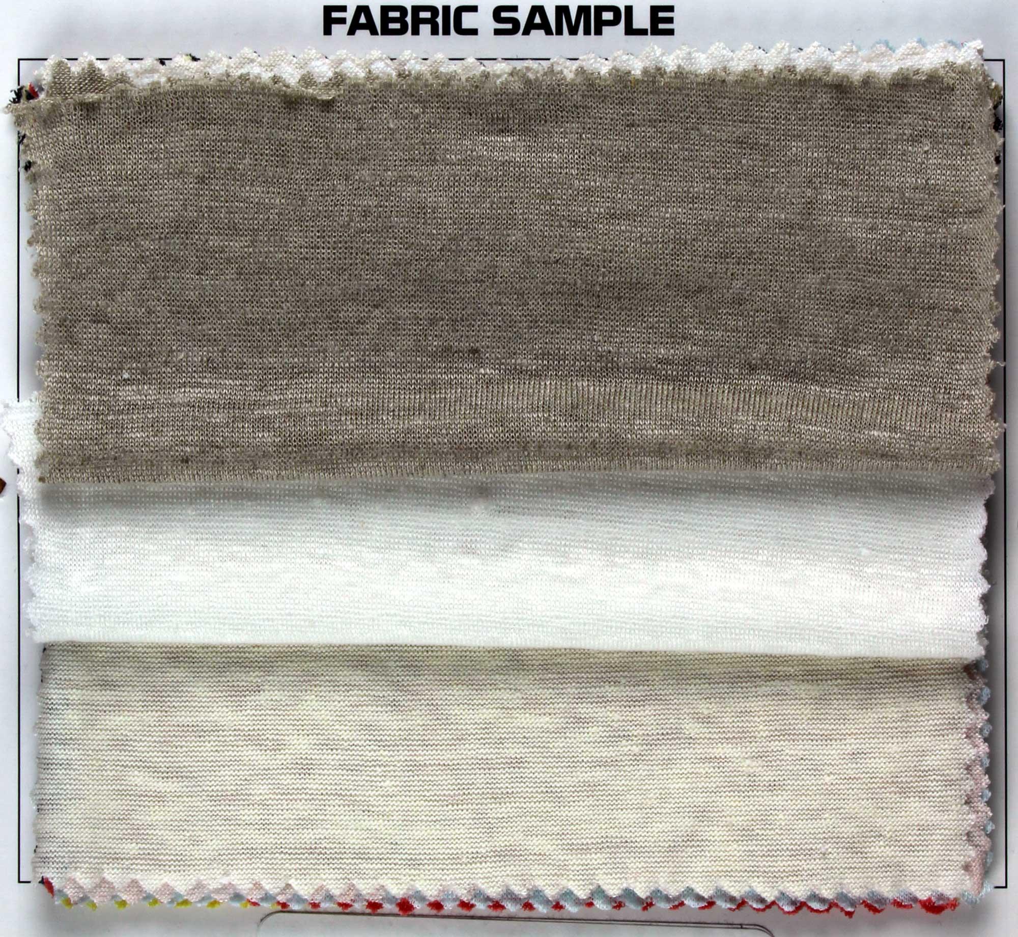 100/% Linen Jersey Knit Fabric